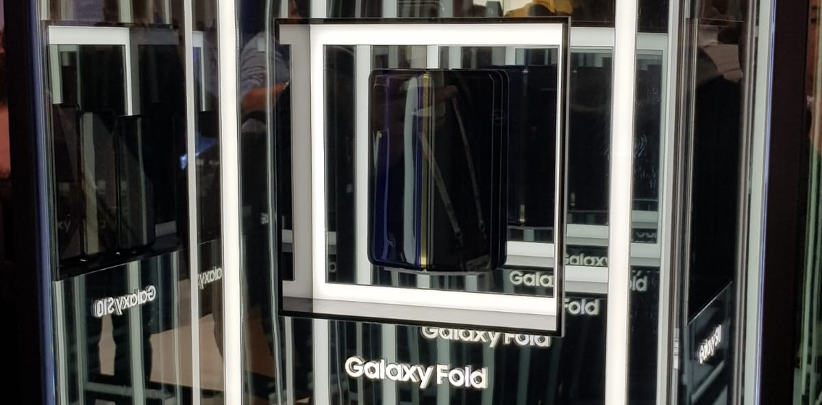 Samsung Galaxy Fold photo from Mobile World Congress MWC 2019