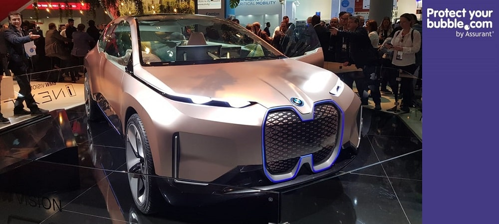 BMW driverless car protect your bubble banner