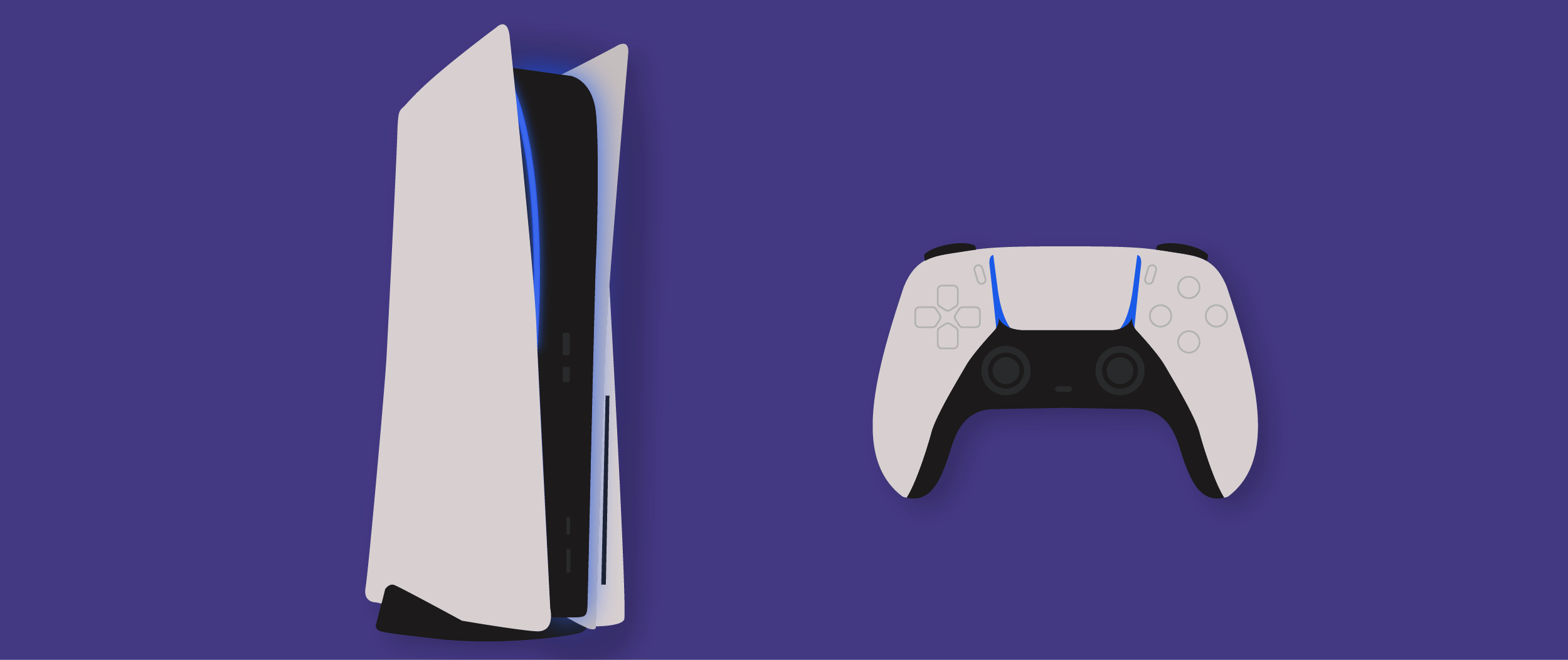 Banner graphic of the PS5 and PS5 controller